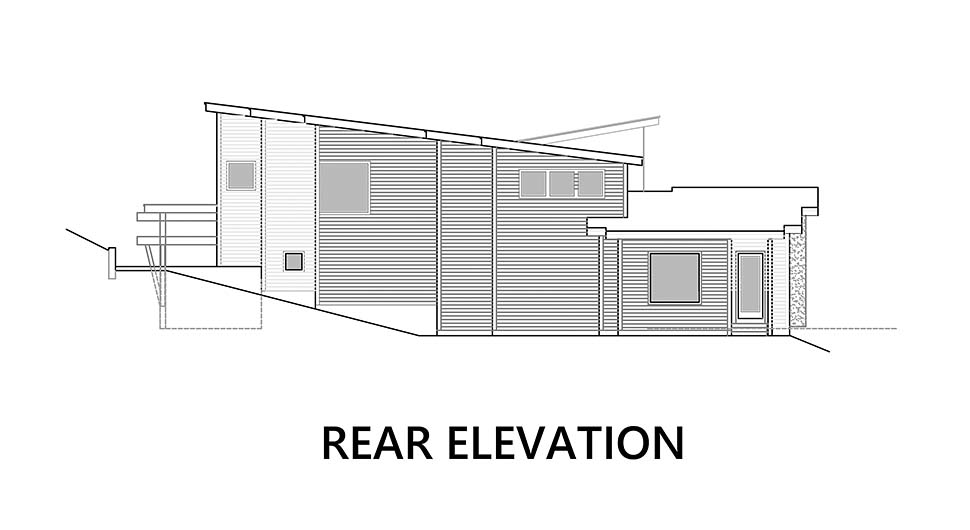 Modern Plan with 3053 Sq. Ft., 3 Bedrooms, 4 Bathrooms, 6 Car Garage Picture 5