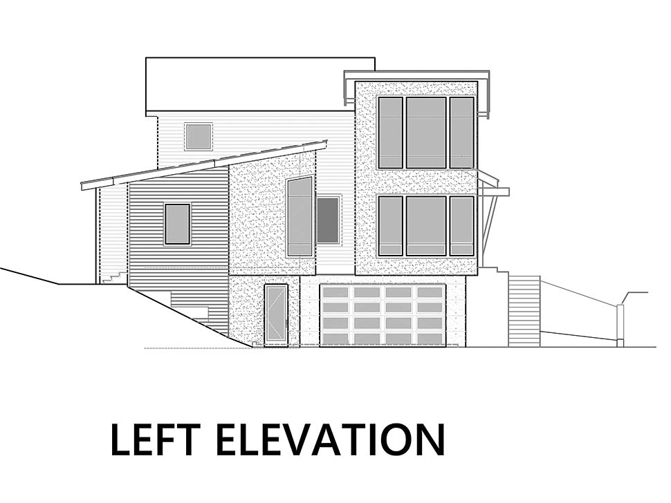 Modern Plan with 3053 Sq. Ft., 3 Bedrooms, 4 Bathrooms, 6 Car Garage Picture 7
