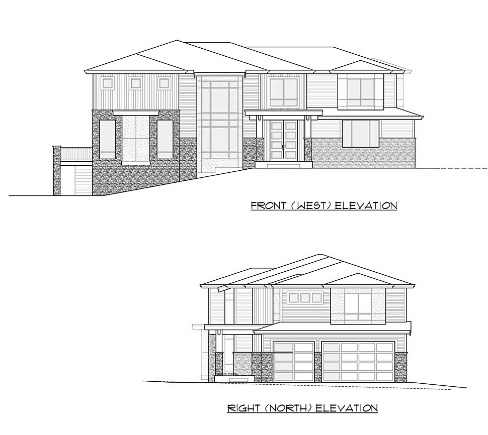 Contemporary, Modern House Plan 81934 with 3 Beds, 4 Baths, 3 Car Garage Picture 3