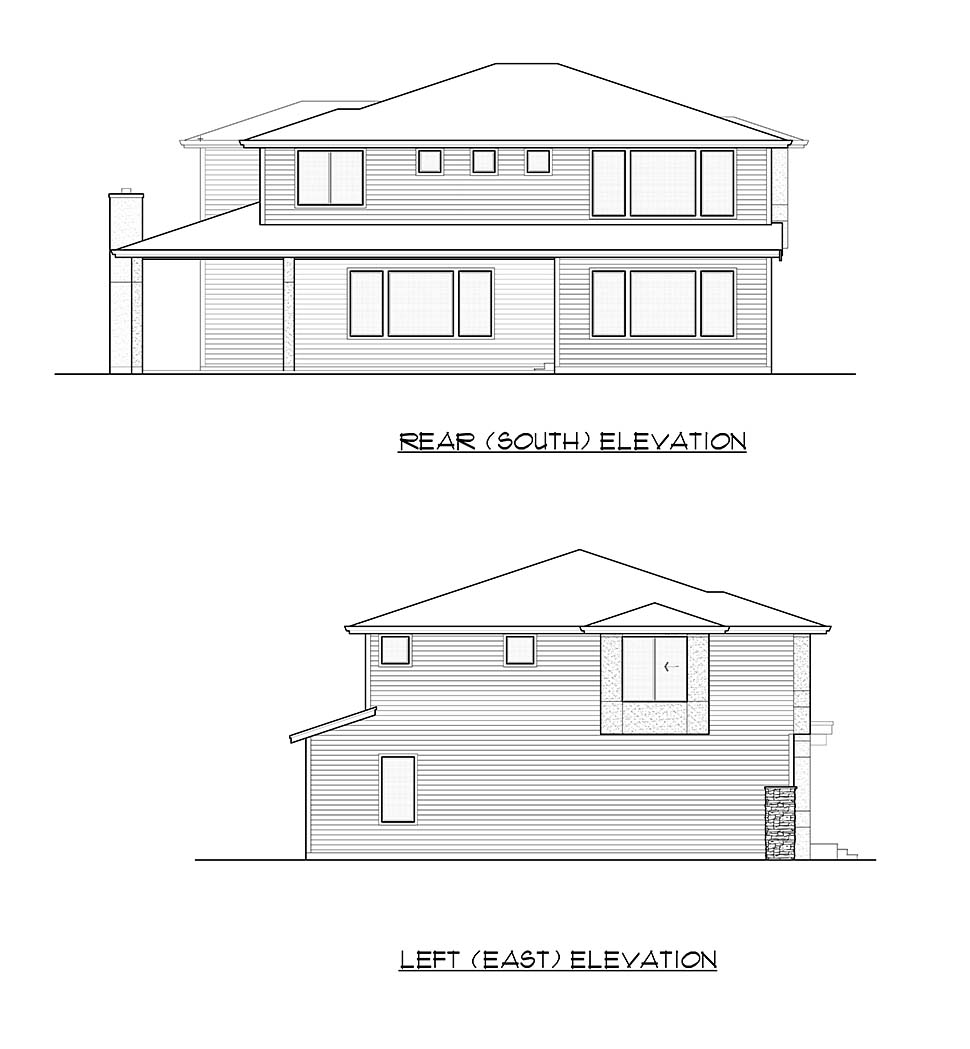 Contemporary, Modern House Plan 81935 with 4 Beds, 3 Baths, 2 Car Garage Picture 4