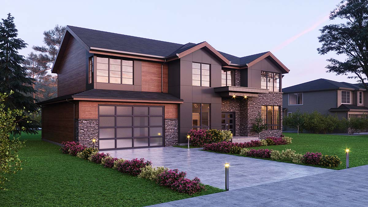 Contemporary, Craftsman House Plan 81938 with 4 Beds, 5 Baths, 2 Car Garage Picture 1