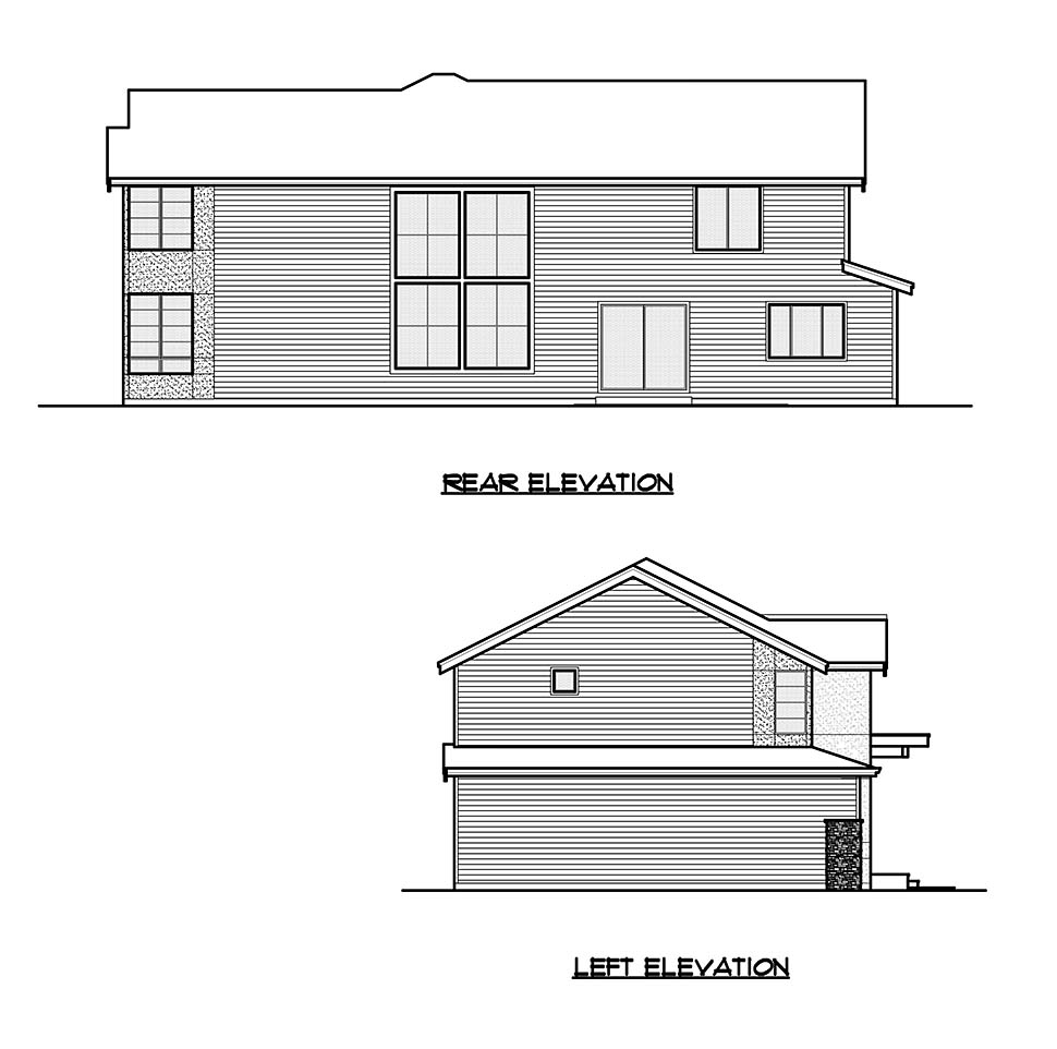 Contemporary, Craftsman House Plan 81938 with 4 Beds, 5 Baths, 2 Car Garage Picture 4