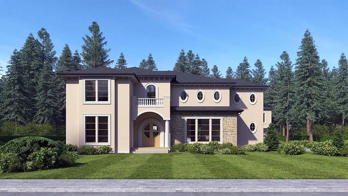 Mediterranean House Plan 81941 with 4 Beds, 5 Baths Elevation