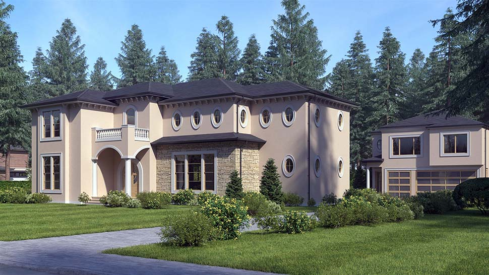 Mediterranean House Plan 81941 with 4 Beds, 5 Baths Picture 2