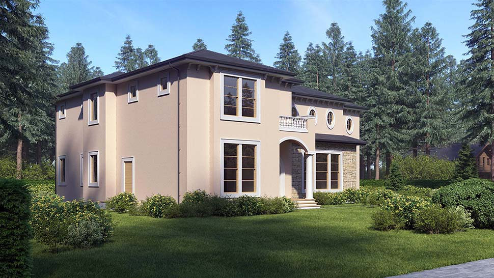 Mediterranean House Plan 81941 with 4 Beds, 5 Baths Picture 3