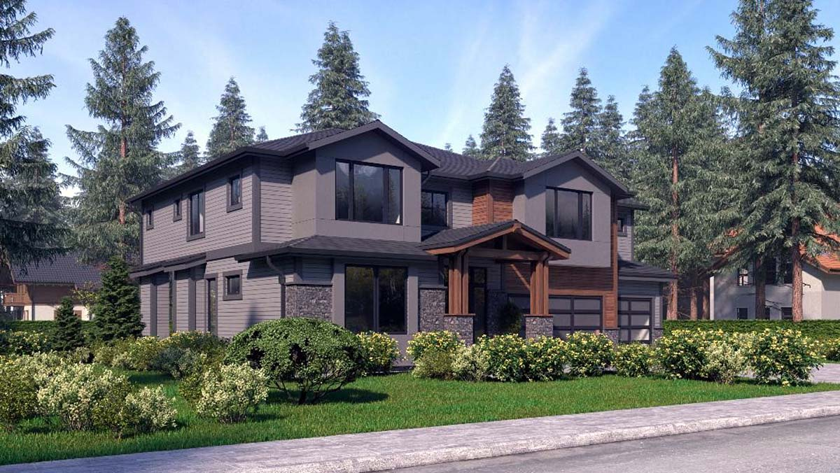 Contemporary, Craftsman, Modern House Plan 81944 with 4 Beds, 4 Baths, 3 Car Garage Picture 1