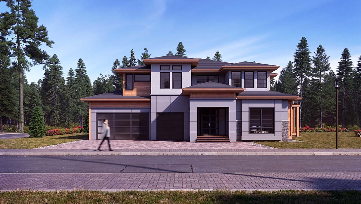Contemporary, Modern House Plan 81945 with 4 Beds, 5 Baths, 3 Car Garage Elevation