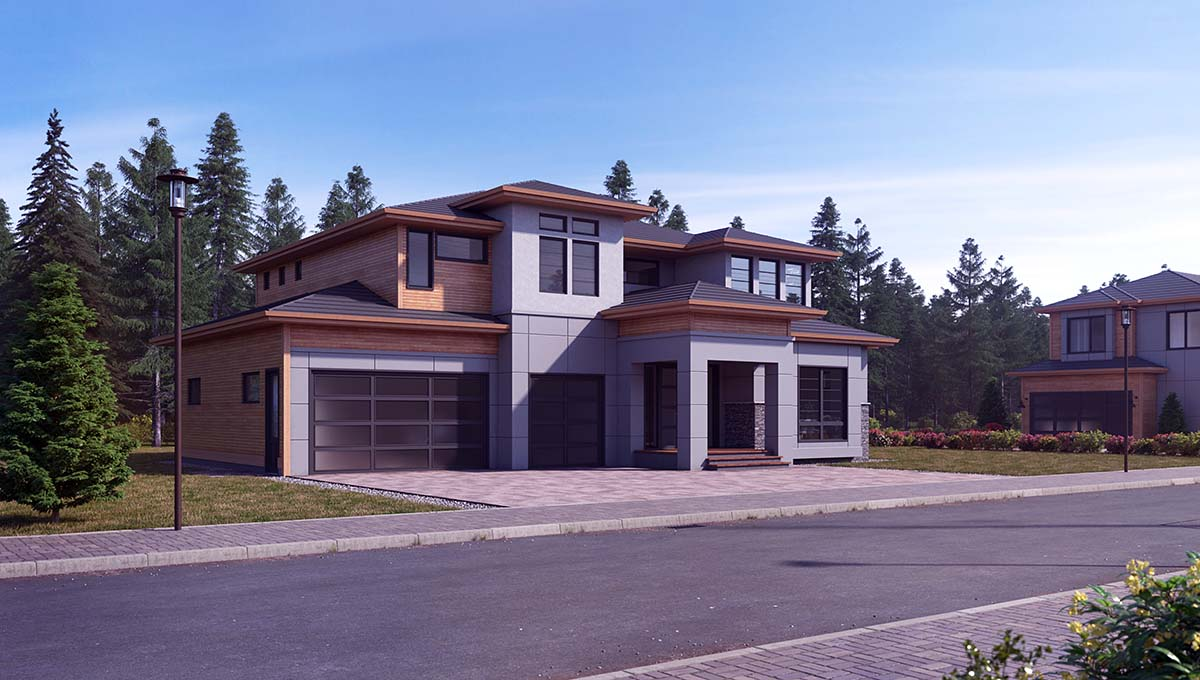 Contemporary, Modern House Plan 81945 with 4 Beds, 5 Baths, 3 Car Garage Picture 1