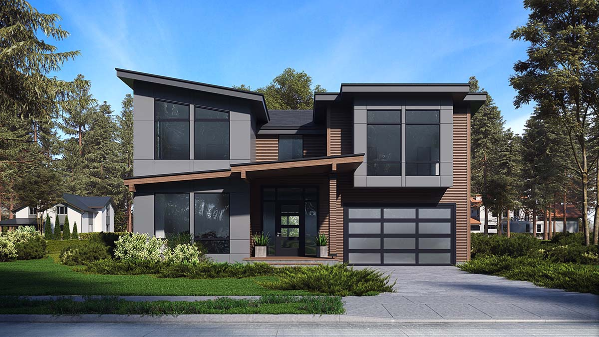 Contemporary, Modern House Plan 81946 with 3 Beds, 4 Baths, 2 Car Garage Elevation