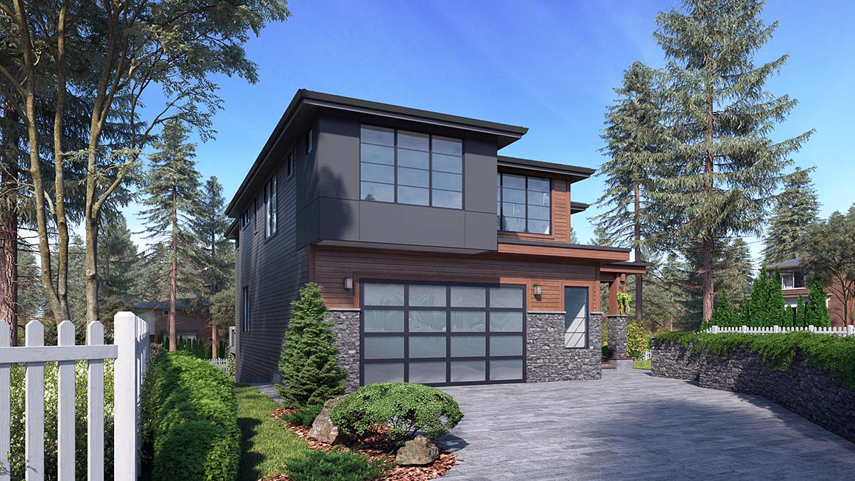 Contemporary, Modern House Plan 81947 with 6 Beds, 5 Baths, 2 Car Garage Picture 1