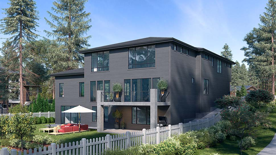 Contemporary, Modern House Plan 81947 with 6 Beds, 5 Baths, 2 Car Garage Picture 2