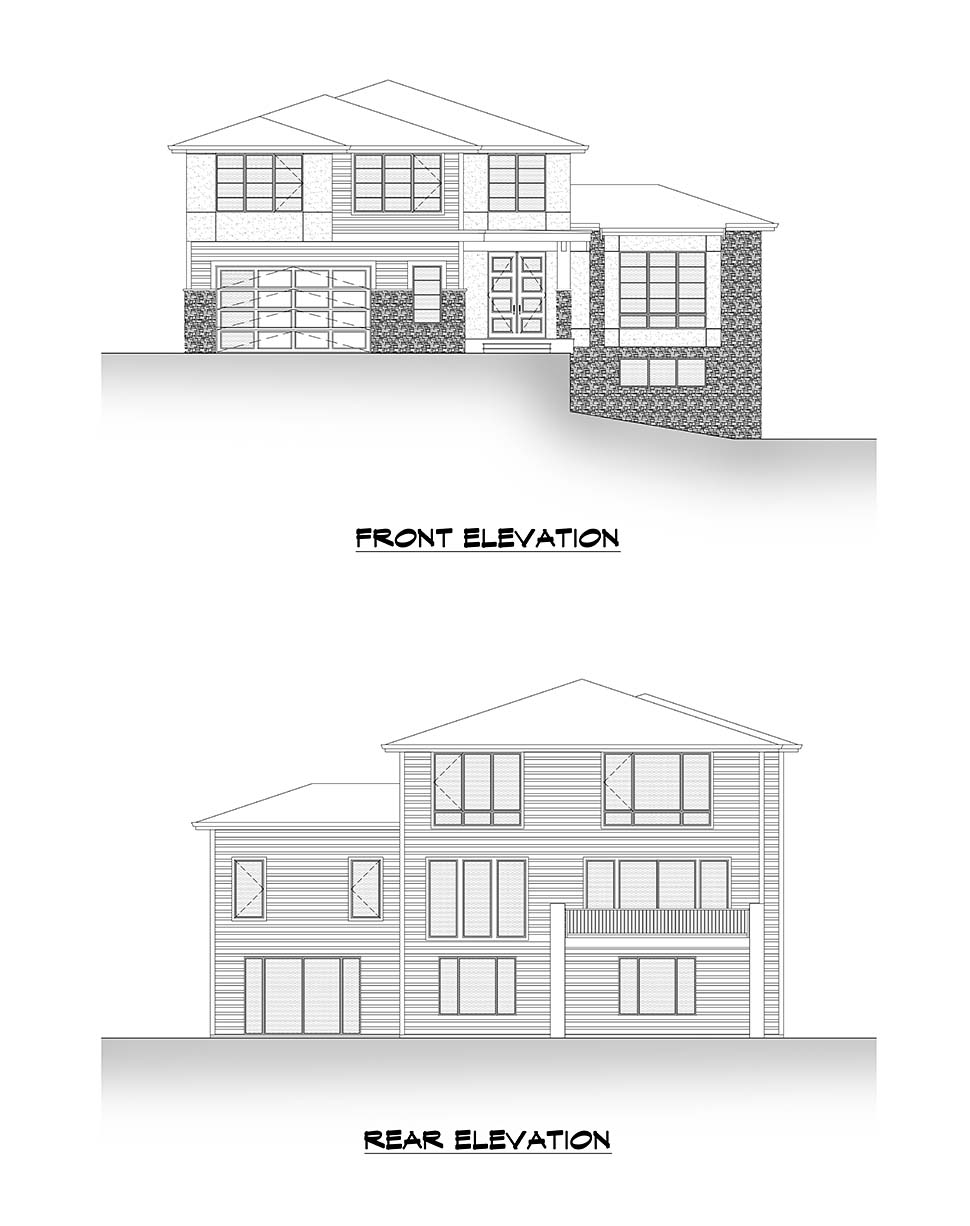 Contemporary, Modern House Plan 81947 with 6 Beds, 5 Baths, 2 Car Garage Picture 3