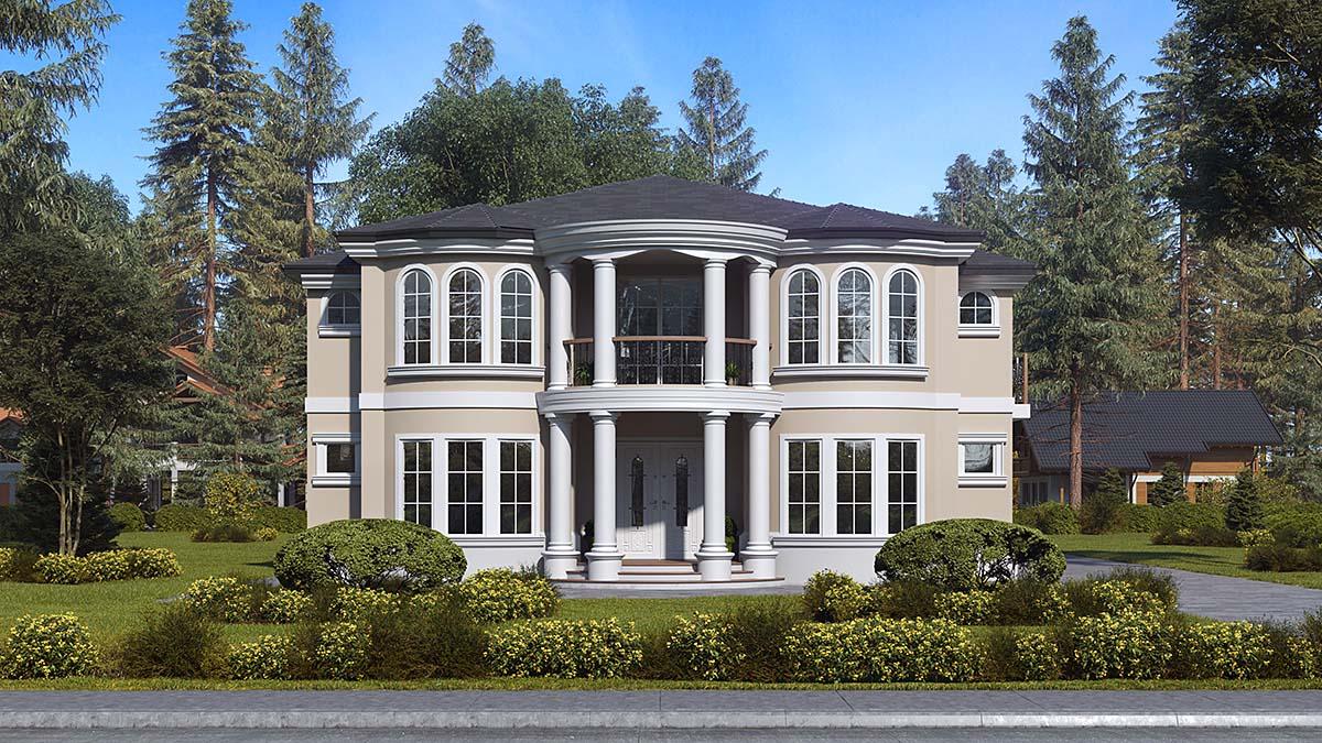Mediterranean House Plan 81952 with 6 Beds, 7 Baths, 3 Car Garage Elevation