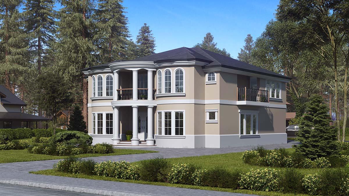 Mediterranean House Plan 81952 with 6 Beds, 7 Baths, 3 Car Garage Picture 1