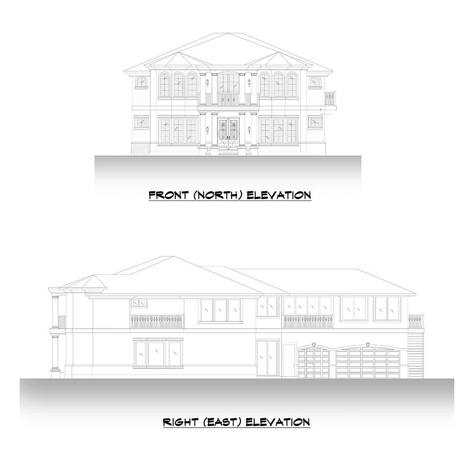 Mediterranean House Plan 81952 with 6 Beds, 7 Baths, 3 Car Garage Picture 2