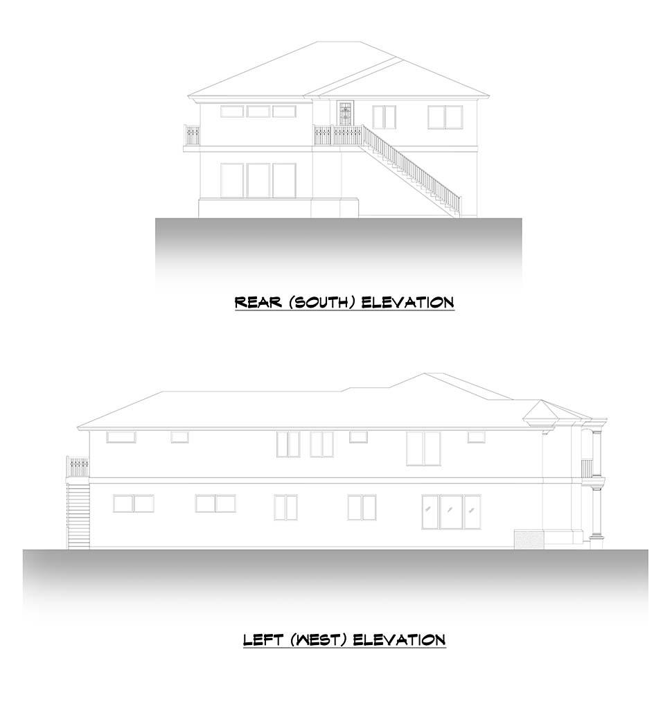 Mediterranean House Plan 81952 with 6 Beds, 7 Baths, 3 Car Garage Picture 3