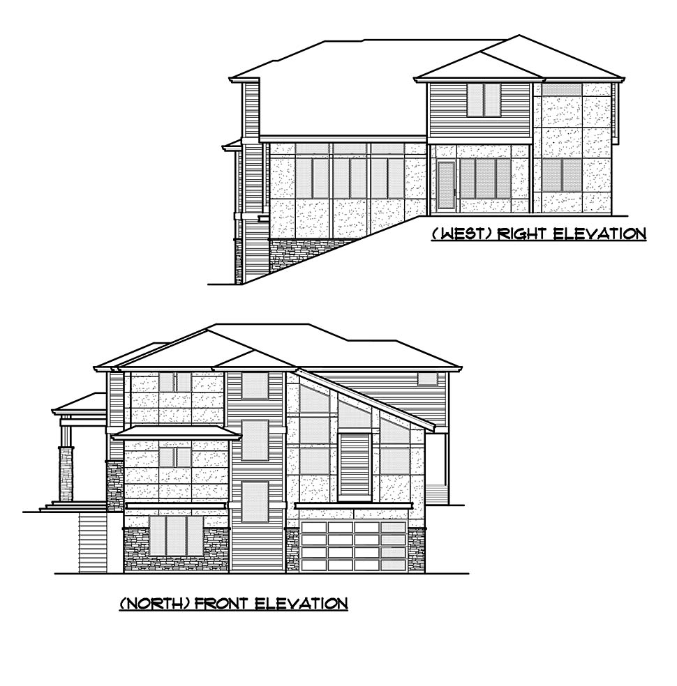 Contemporary, Modern House Plan 81954 with 5 Beds, 5 Baths, 2 Car Garage Picture 3