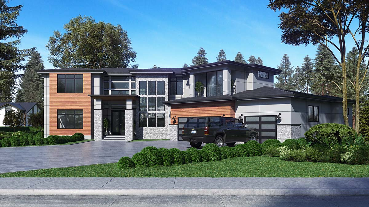 Contemporary, Modern House Plan 81955 with 4 Beds, 5 Baths, 3 Car Garage Picture 1