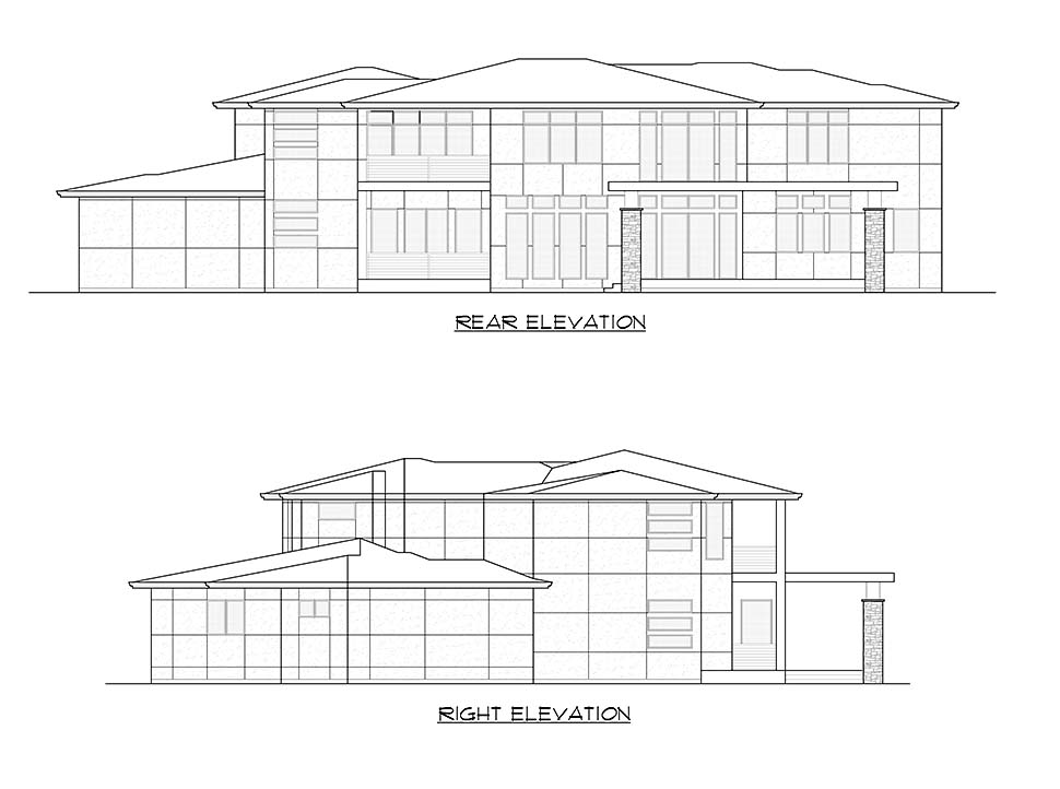 Contemporary, Modern House Plan 81955 with 4 Beds, 5 Baths, 3 Car Garage Picture 7