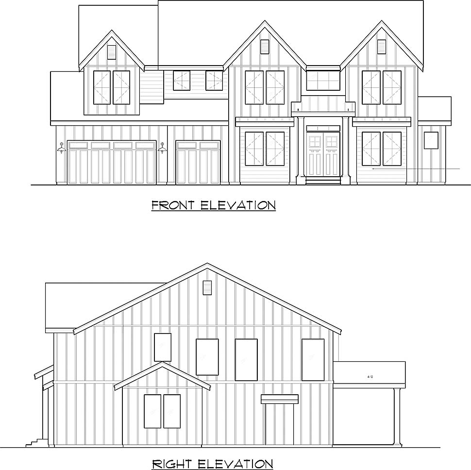 Craftsman, Farmhouse, Traditional House Plan 81956 with 5 Beds, 6 Baths, 3 Car Garage Picture 3