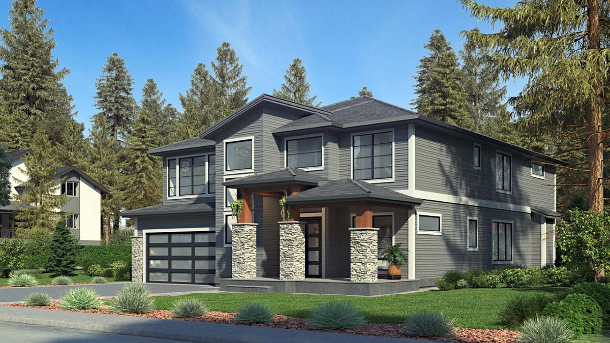 Contemporary, Modern House Plan 81959 with 5 Beds, 5 Baths, 2 Car Garage Picture 1