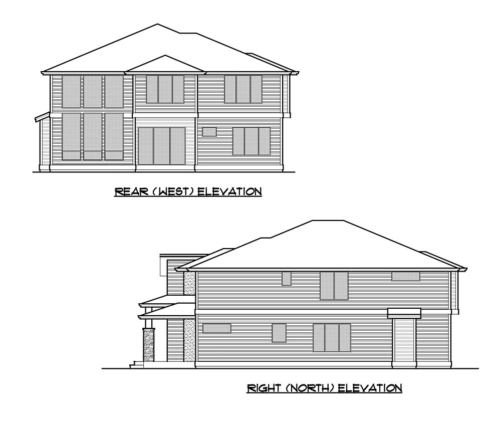 Contemporary House Plan 81959 with 5 Beds, 5 Baths, 2 Car Garage Picture 4
