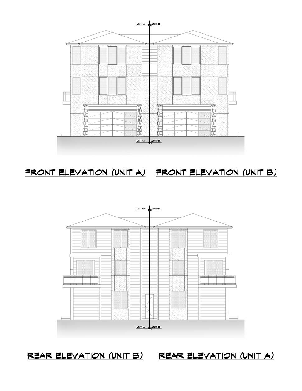 Contemporary, Modern Multi-Family Plan 81963 with 8 Beds, 8 Baths, 4 Car Garage Picture 3