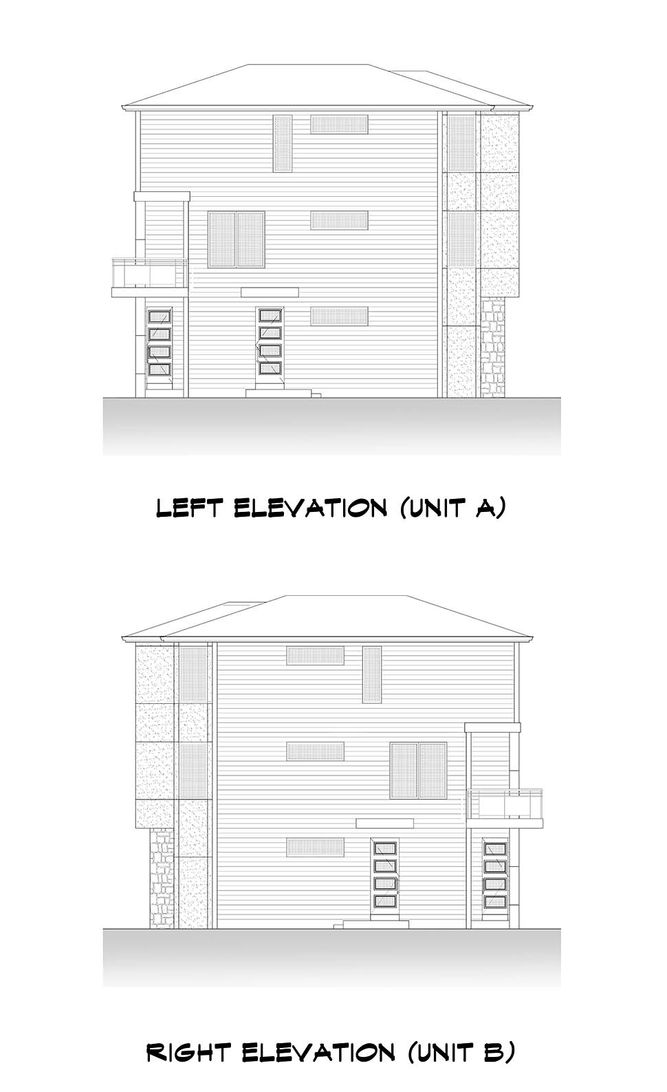 Contemporary, Modern Multi-Family Plan 81963 with 8 Beds, 8 Baths, 4 Car Garage Picture 4