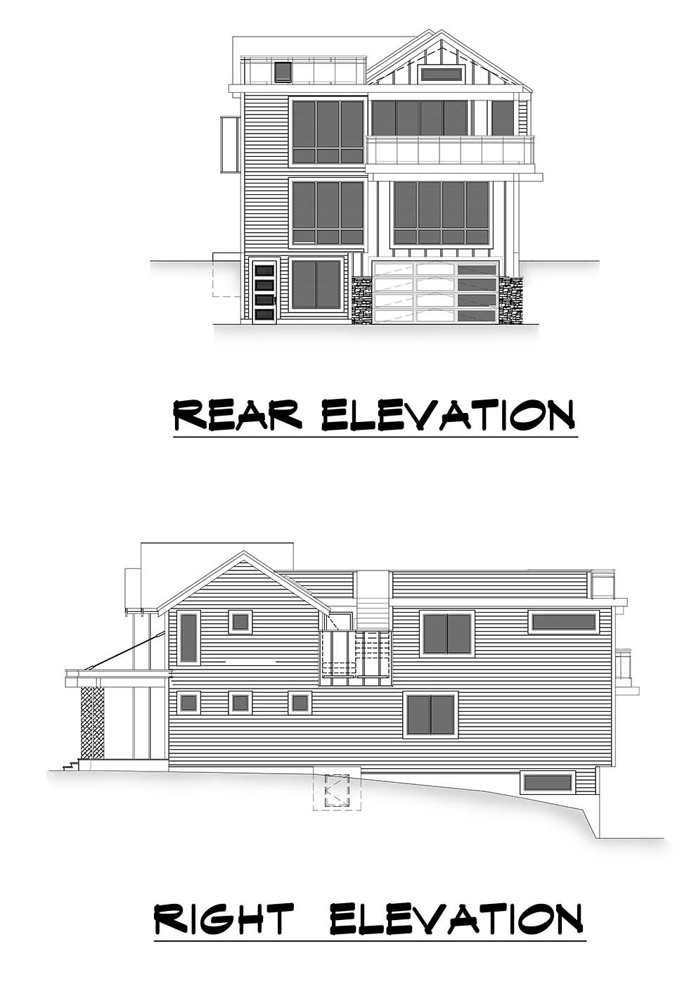 Modern House Plan 81981 with 5 Beds, 5 Baths, 2 Car Garage Picture 4