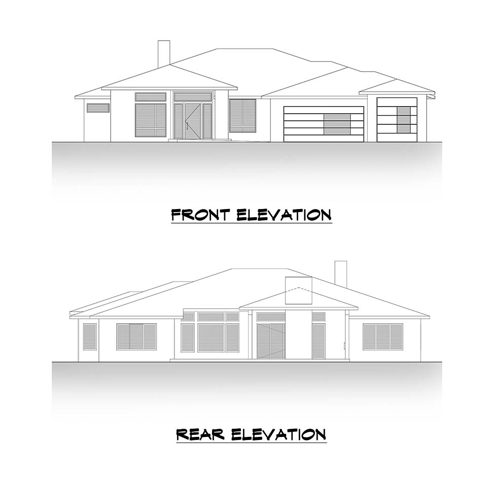 Contemporary, Traditional House Plan 81988 with 4 Beds, 4 Baths, 3 Car Garage Picture 3