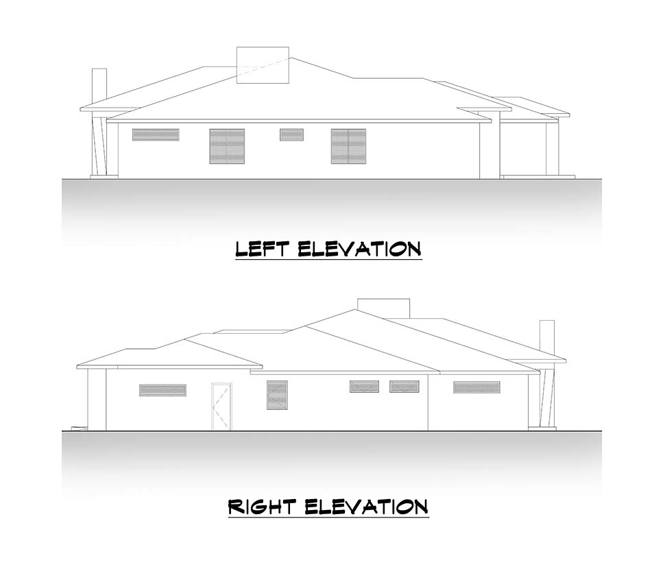 Contemporary, Traditional House Plan 81988 with 4 Beds, 4 Baths, 3 Car Garage Picture 4