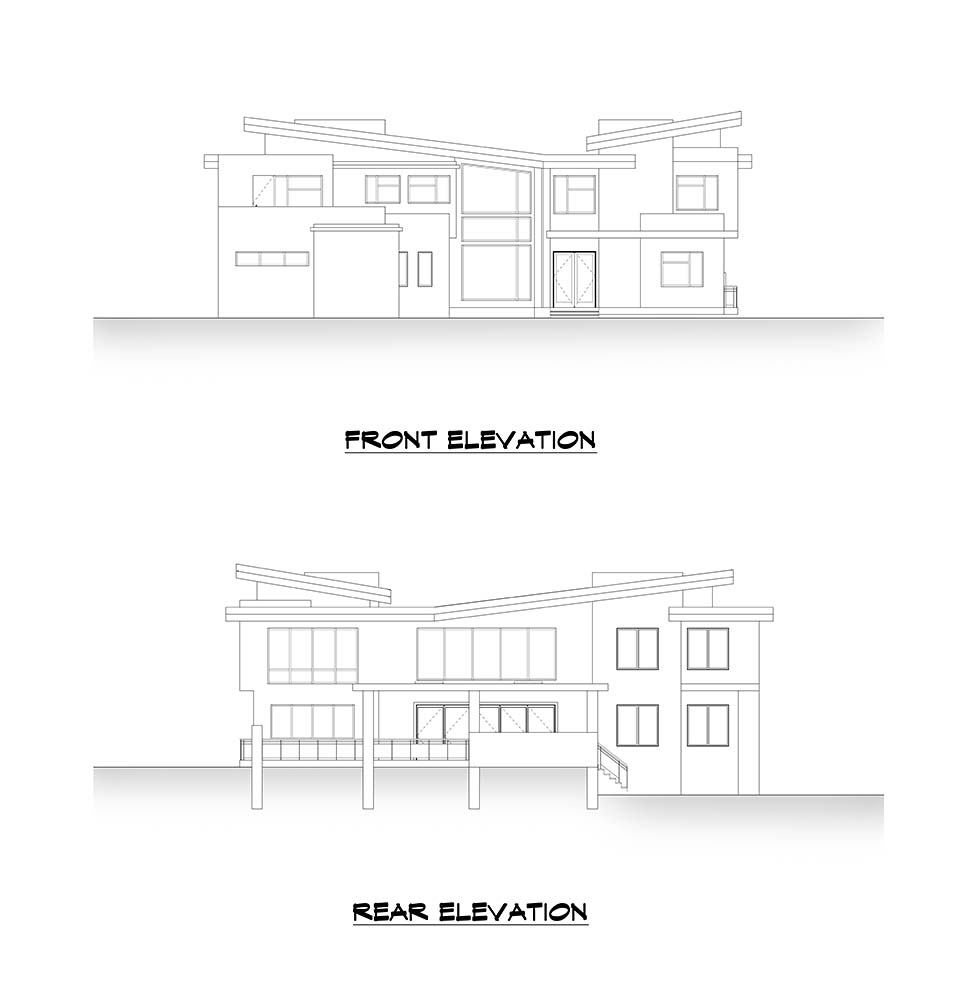 Contemporary House Plan 81990 with 4 Beds, 6 Baths, 3 Car Garage Picture 3