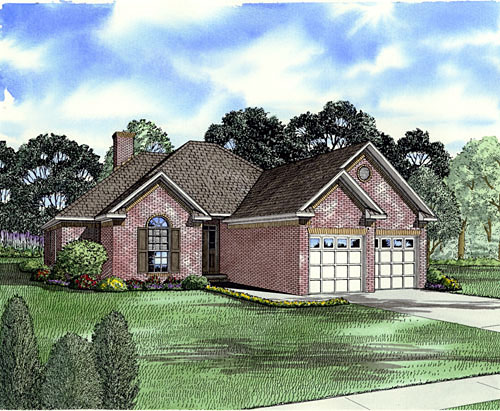 European House Plan 82000 Elevation