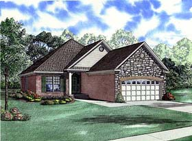 Plan Number 82001 - 1487 Square Feet