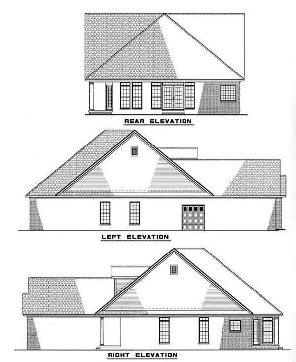 Country Craftsman House Plan 82002 Rear Elevation
