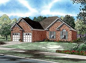House Plan 82005 | Craftsman, European Style House Plan with 1472 Sq Ft, 3 Bed, 2 Bath, 2 Car Garage Elevation