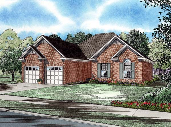 Craftsman European House Plan 82005 Elevation