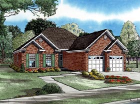 Plan Number 82007 - 1287 Square Feet