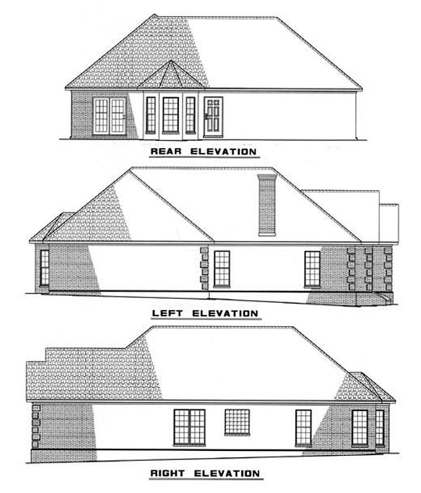 Ranch House Plan 82008 Rear Elevation