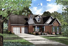 Country House Plan 82009 with 3 Beds, 2 Baths, 2 Car Garage Elevation