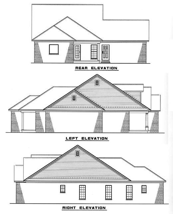Country House Plan 82009 Rear Elevation