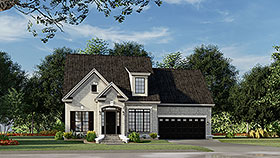 House Plan 82010 | Country Style Plan with 1684 Sq Ft, 3 Bedrooms, 3 Bathrooms, 2 Car Garage Elevation