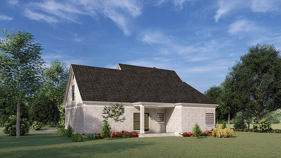Country House Plan 82010 with 3 Beds, 3 Baths, 2 Car Garage Rear Elevation