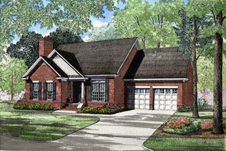 One-Story Ranch Elevation of Plan 82012