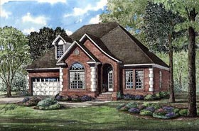 European House Plan 82013 Elevation