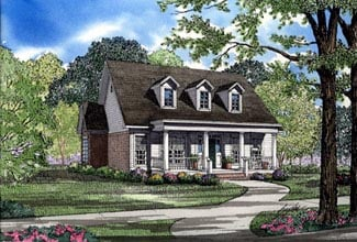 Cape Cod, Country House Plan 82017 with 3 Beds, 2 Baths, 2 Car Garage Elevation