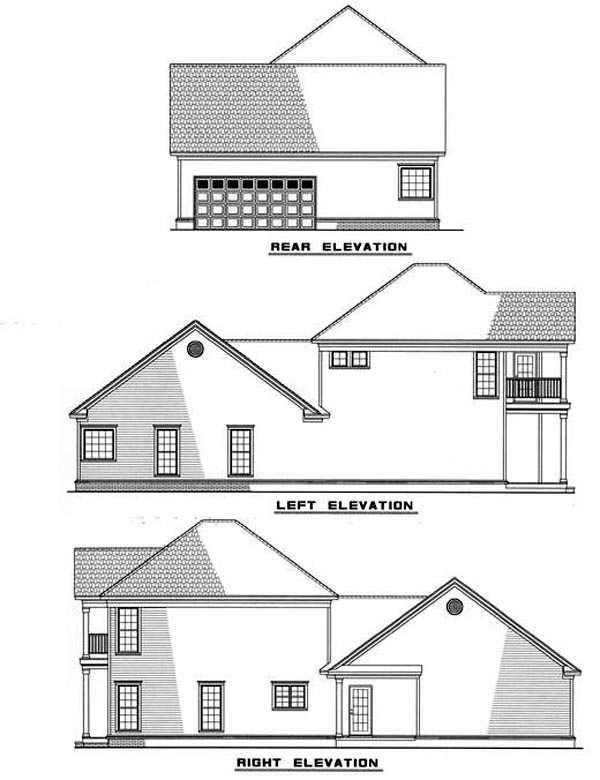 Colonial Country Southern House Plan 82018 Rear Elevation