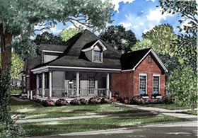 Country Farmhouse House Plan 82020 Elevation