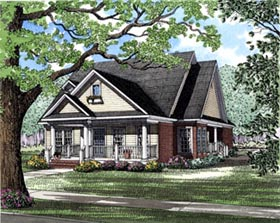 House Plan 82021 | Country Style Plan with 1848 Sq Ft, 3 Bedrooms, 2 Bathrooms, 2 Car Garage Elevation