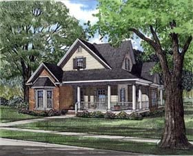 House Plan 82022 | Country Farmhouse Style Plan with 1927 Sq Ft, 3 Bedrooms, 2 Bathrooms, 2 Car Garage Elevation